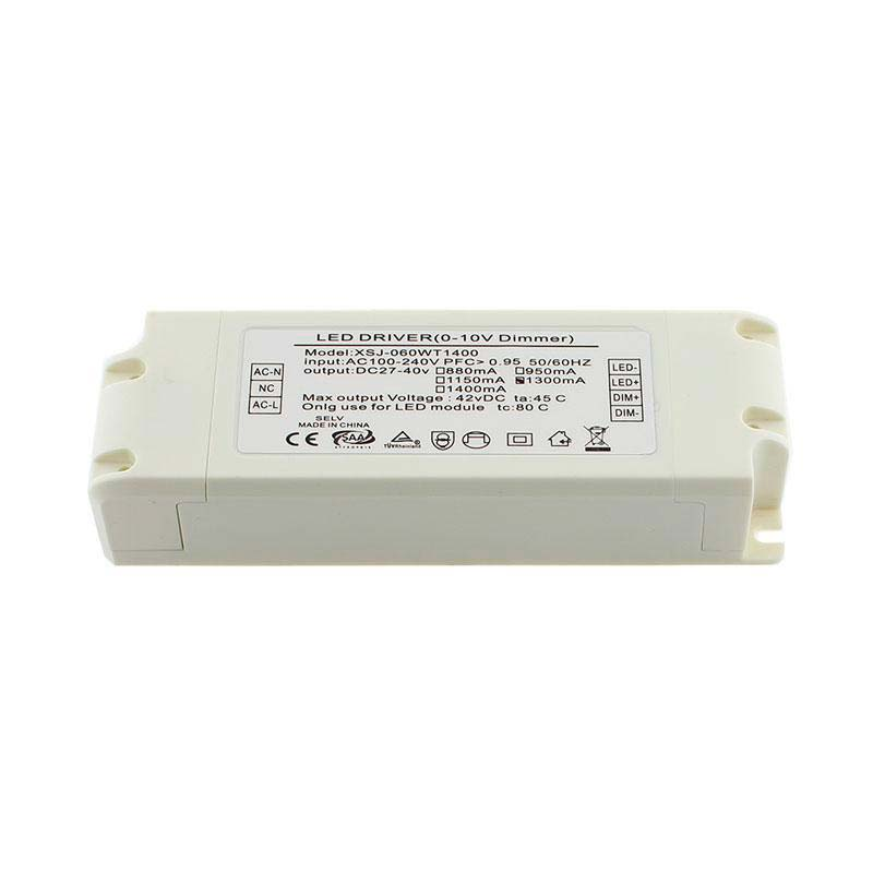 LED Driver TUV DC27-42V/55W/1300mA, Regulable 0-10V, Regulable